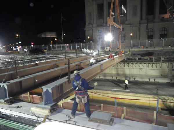 Vine Street night construction